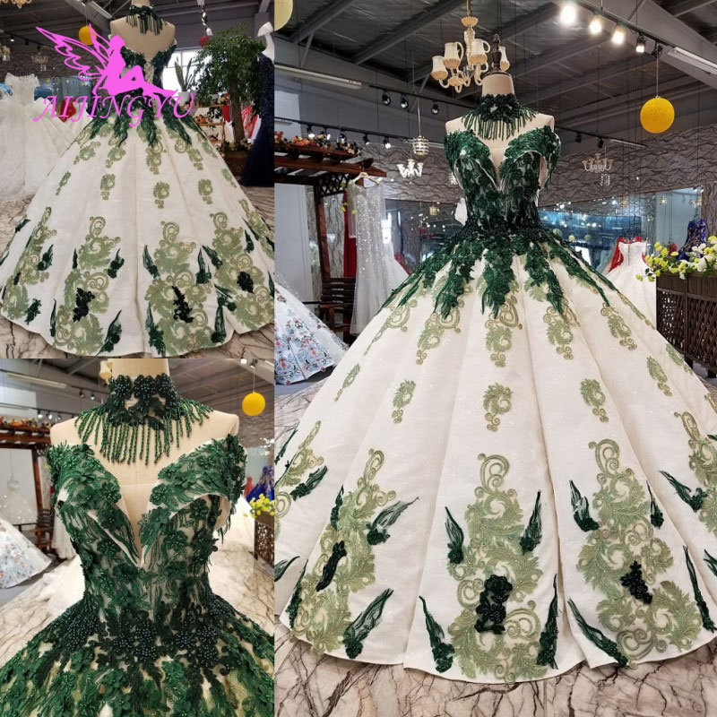 AIJINGYU Where To Find Wedding Dresses Gown Luxury 2019 Hot Sweden With Sleeves Classic Gowns Wedding Dress Glitter
