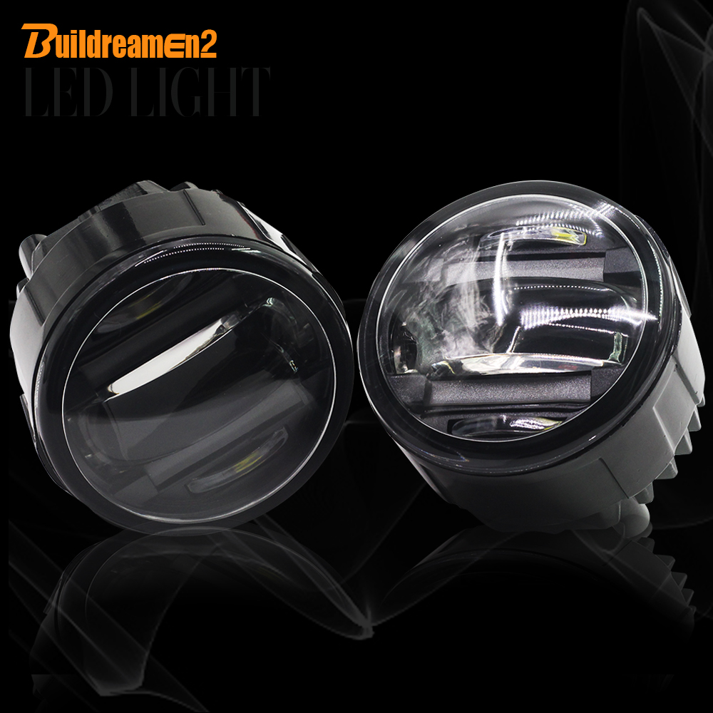 Buildreamen2 2 Pieces Car LED Front Fog Light DRL Daytime Running Lamp For Nissan Quest Rogue Lafesta Vampira Presage for opel astra h gtc 2005 15 h11 wiring harness sockets wire connector switch 2 fog lights drl front bumper 5d lens led lamp