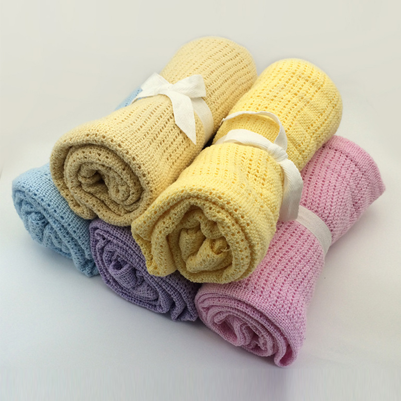 Baby Blanket Knitted Newborn Swaddle Wrap Blankets Super Soft Toddler Infant Bedding Quilt For Bed Sofa Basket Stroller Blankets