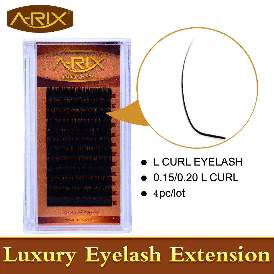 L Curl Cils Extension 4 packs L cils Nouveau L Curl vison Cils Faux Cils Faux Cils Corée Cils Très Doux cheveux