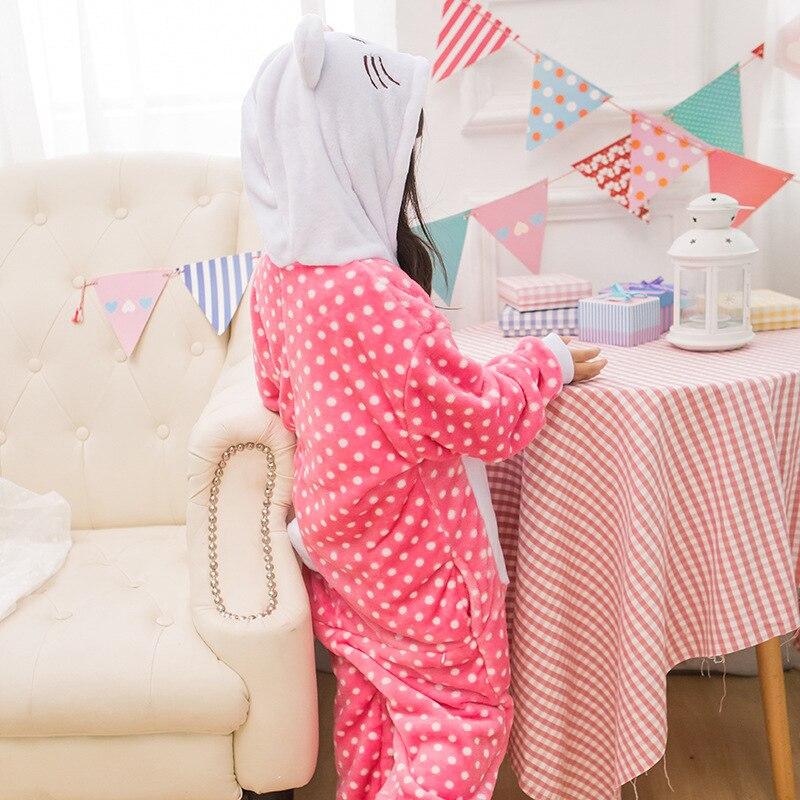 Payız Qış Oğlanları Qızlar Pijama Sevimli Cizgi Filmi KT Pişik - Karnaval kostyumlar - Fotoqrafiya 2