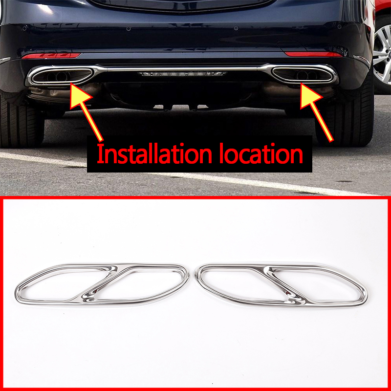 For Mercedes benz W222 S Class 2014-17 Stainless steel Tail Exhaust Pipe muffler