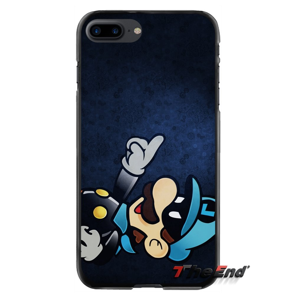 For Apple iPhone 4 4S 5 5S 5C SE 6 6S 7 8 Plus X iPod Touch 4 5 6 Accessories Phone Cases Covers Luigi Super Mario