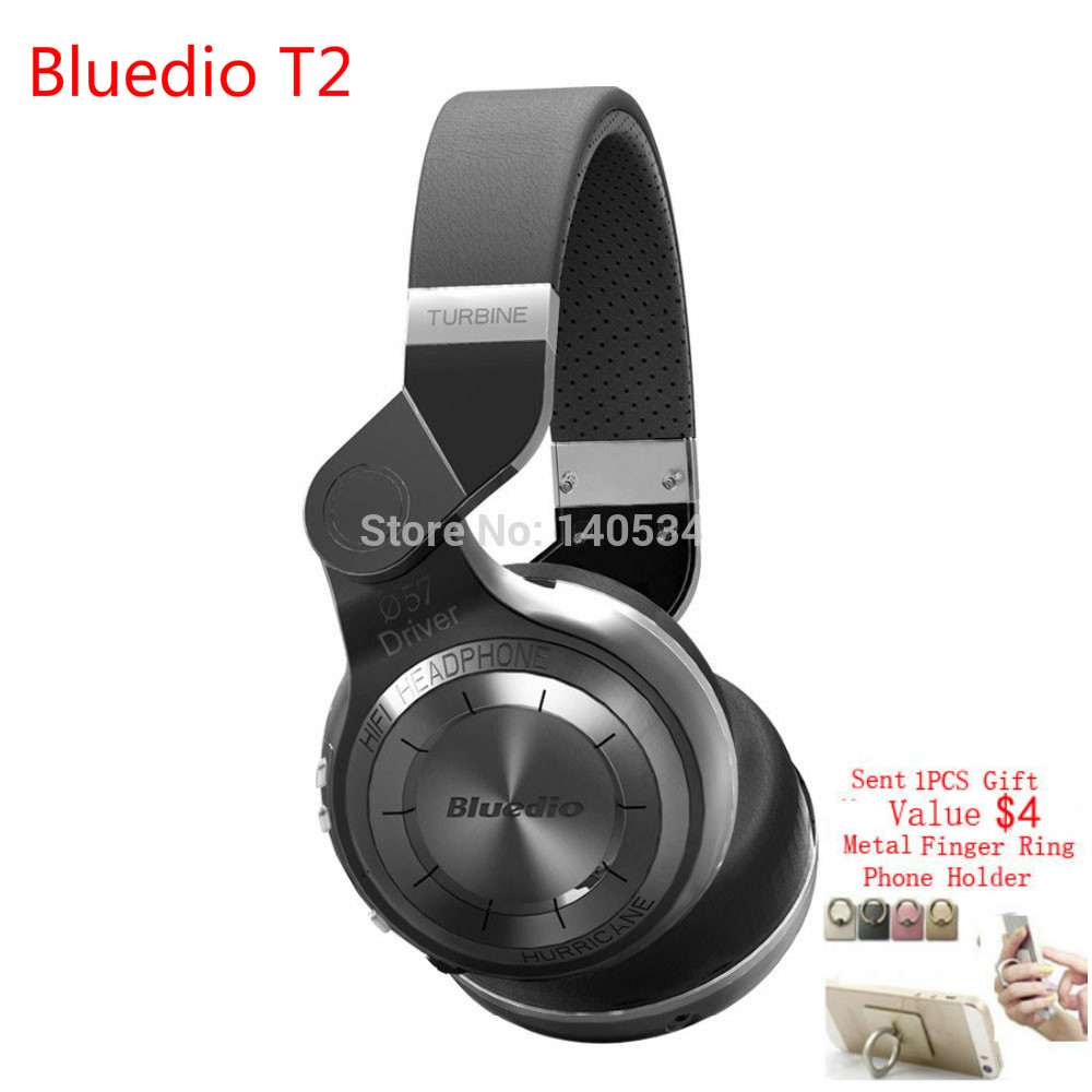 ФОТО Bluedio T2 Foldable Stereo Bluetooth Headphone Wireless Sport Style Headphones with Mic Powerful Bass Over-ear Audifonos cuffie