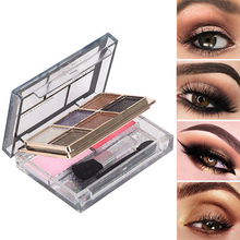 Eyeshadow Palette Blush Cosmetic Glitter Party Eye Shadow Powder Beauty Face Eye Makeup with Stick Tool все цены