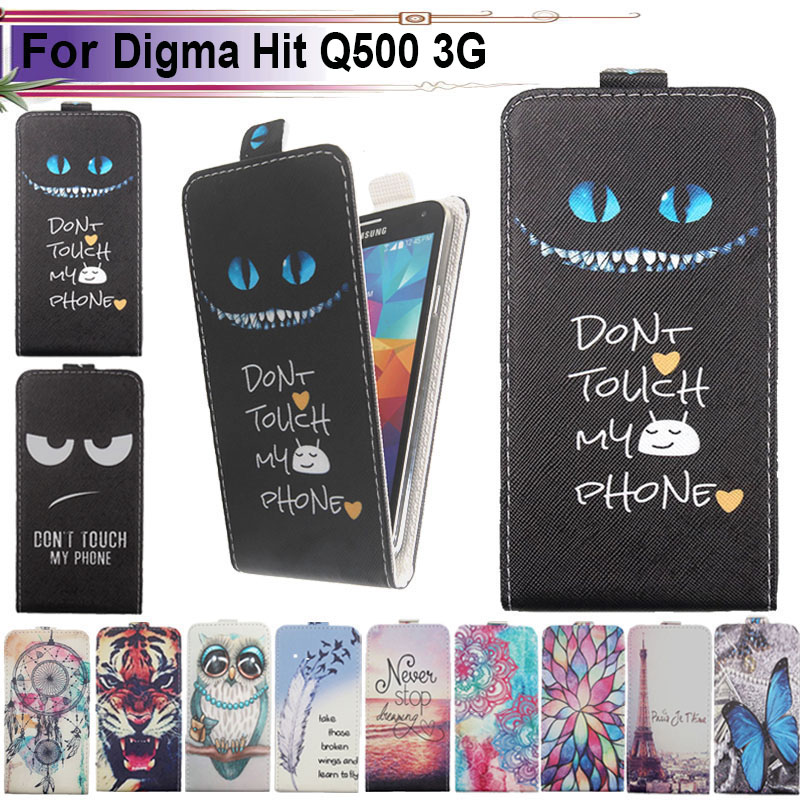 Fashion 11 Colors Cartoon Pattern Up And Down Flip Pu Leather Case For Digma Vox A10 3g Phone Bags & Cases