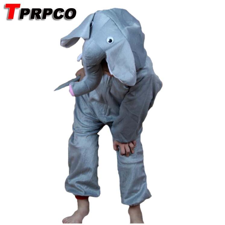 TPRPCO Children Pyjamas Cartoon Animal Elephants Cosplay Costume Pajamas Kids Onesies Sleepwear C22964