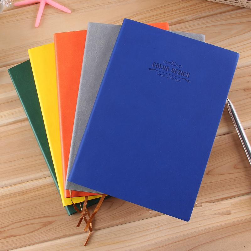1 Pc Creative Rainbow 112 Sheets 25K 148x210mm Diary Sketchbook Trends Notebook Leather Cover Soft Copybook For GiftDeli 3183