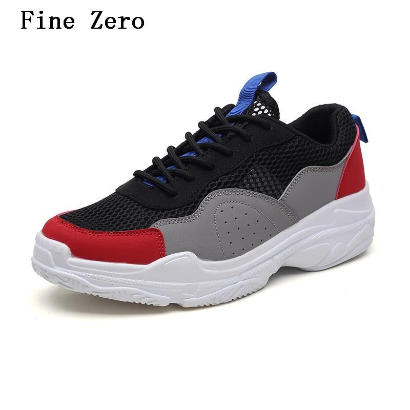 Fine Zero High Quality 2018 Men Shoes Men Casual Shoes Spring Summer Unisex Light Weige Breathable Fashion Male Shoes
