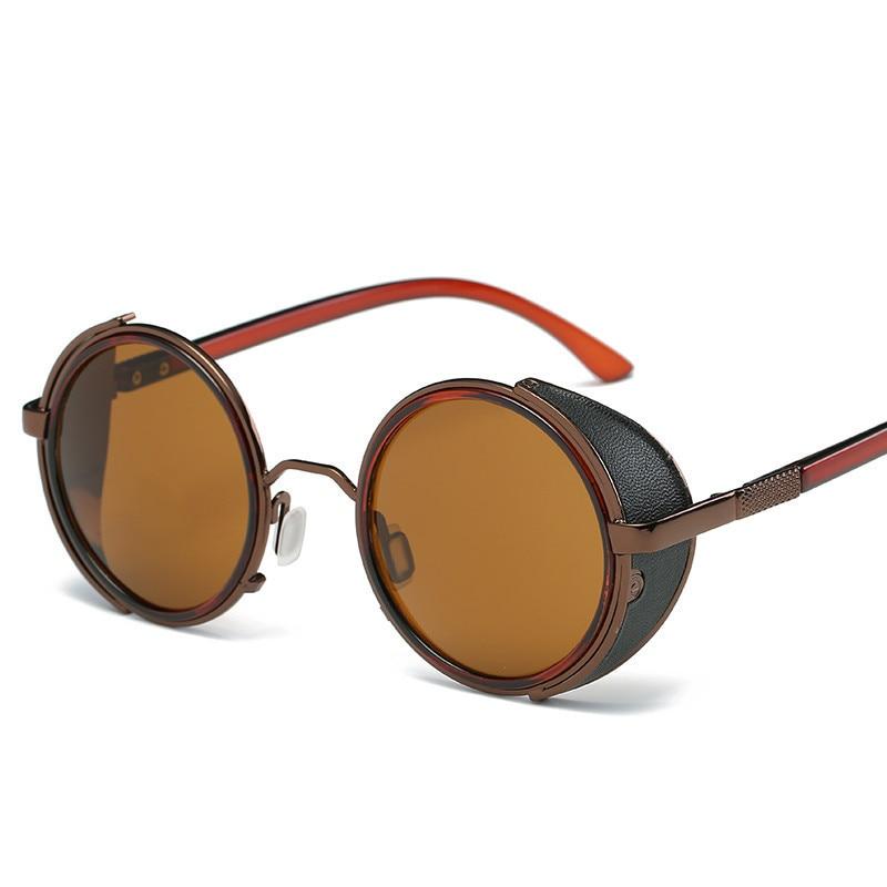 LONSY Steampunk Sunglasses Wanita Putaran Kacamata Kacamata Baru Pria - Aksesori pakaian - Foto 6