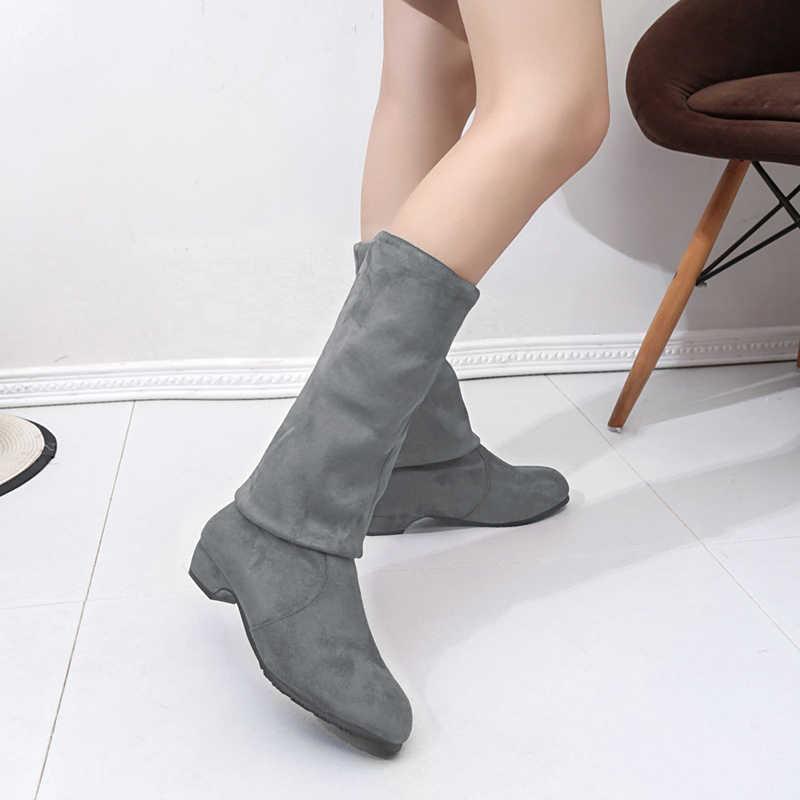Kadın Yüksek Çizmeler Ayakkabı Moda Kadınlar Diz Çizmeler Üzerinde Yeni Sonbahar Kış Akın Botas Feminina Uyluk Yüksek Çizmeler bayanlar