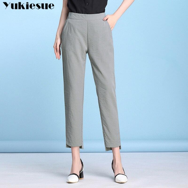streetwear cotton linen women's   pants     capris   with high waist OL harem   pants   for women trousers woman   pants   female Plus size