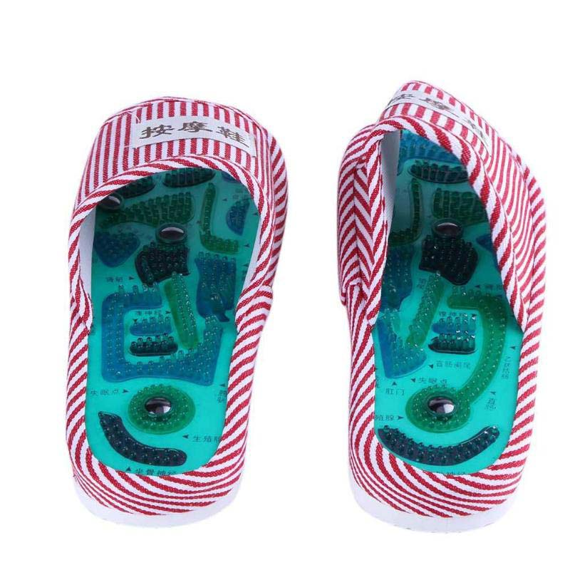 Health Care Acupuncture Shiatsu Magnet Foot Massage Slippers Health Shoe Reflexology Magnetic Sandals Feet Massager Shoes 2