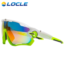 LOCLE Polarized Cycling Glasses UV400 Bicycle Sunglasses Bike Glasses TR90 Goggles Eyewear Oculos Ciclismo 5 Lens