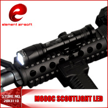 Elemento Airsoft M600C Linterna de arma táctica Versión completa LED Tactical Rifle Light Presión remota 20mm Rail Mount EX072 BK