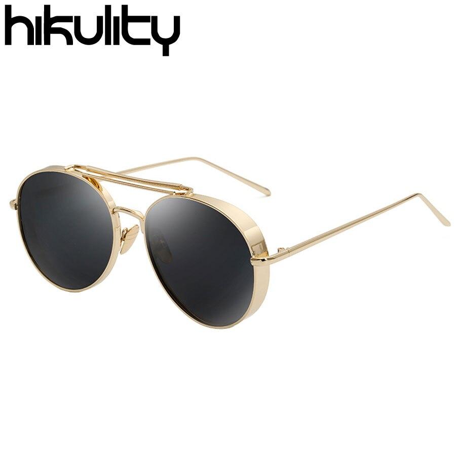 Lado grueso Estilo Coreano Unisex Steampunk gafas de Sol de Mujer de ...