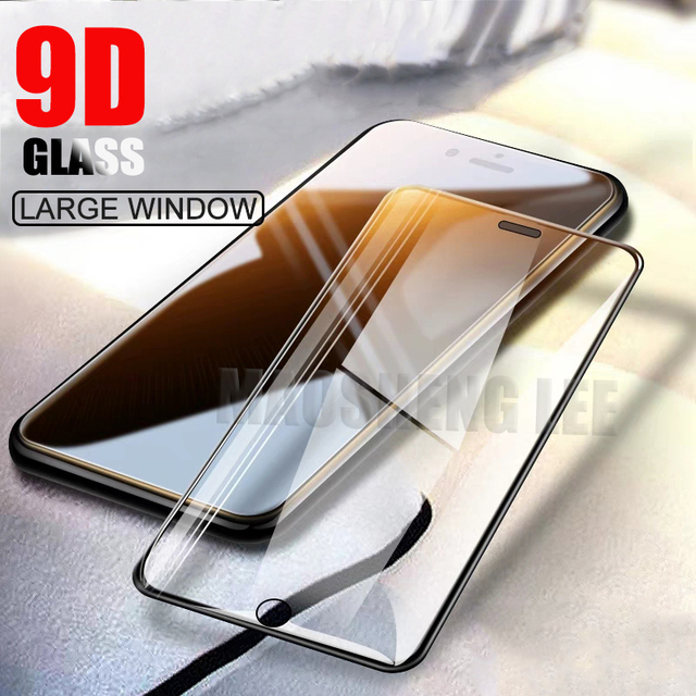 New 9D Tempered Glass For iPhone 6 6S 7 8 Plus Screen Protector Full Cover 9H Protective Glass For iphone 6s 7 8 glass film
