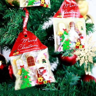 Christmas Cellophane Bags.Us 14 25 5 Off Small House Shape Christmas Cookie Bags Cellophane Bags Self Adhesive Plastic Bags 300pcs Lot In Gift Bags Wrapping Supplies From