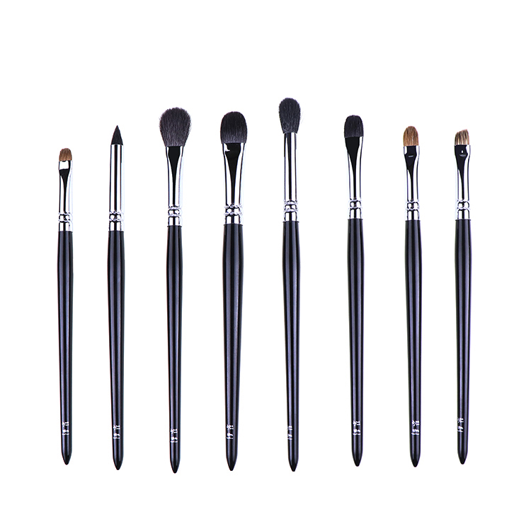 8pcs Professional Eye Makeup Brushes Set Soft Sokouhou Goat Hair Eye Shadow Blending Smudge Brush Eyebrow
