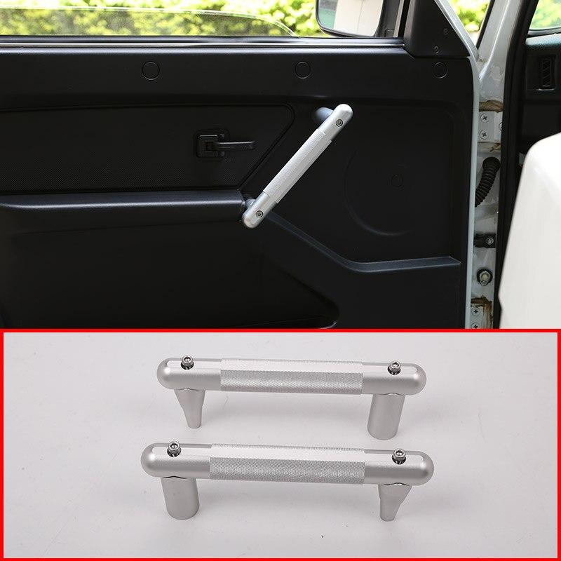 2 pcs Voiture En alliage D'aluminium Intérieur Poignée De Porte Garniture Pour LADA NIVA Accessoires