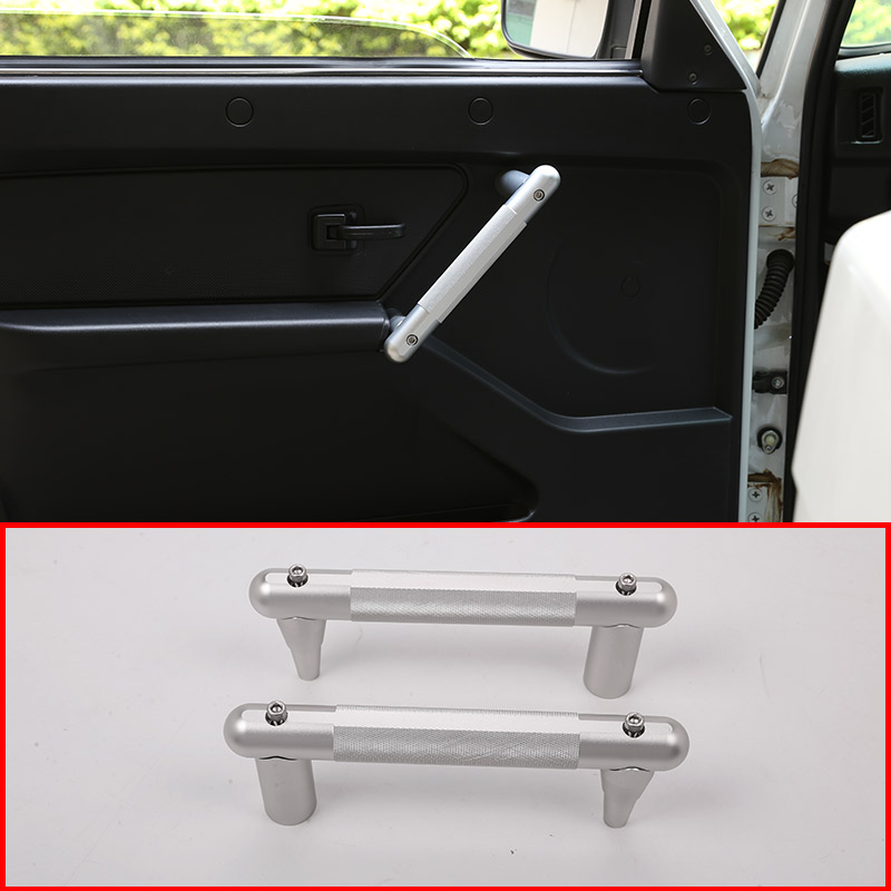 2pcs Car Aluminum alloy Interior Door Handle Trim For LADA NIVA Accessories 2pcs for land rover defender 110 for landrover defender 90 car interior matte chrome aluminum alloy grab handle trim accessories