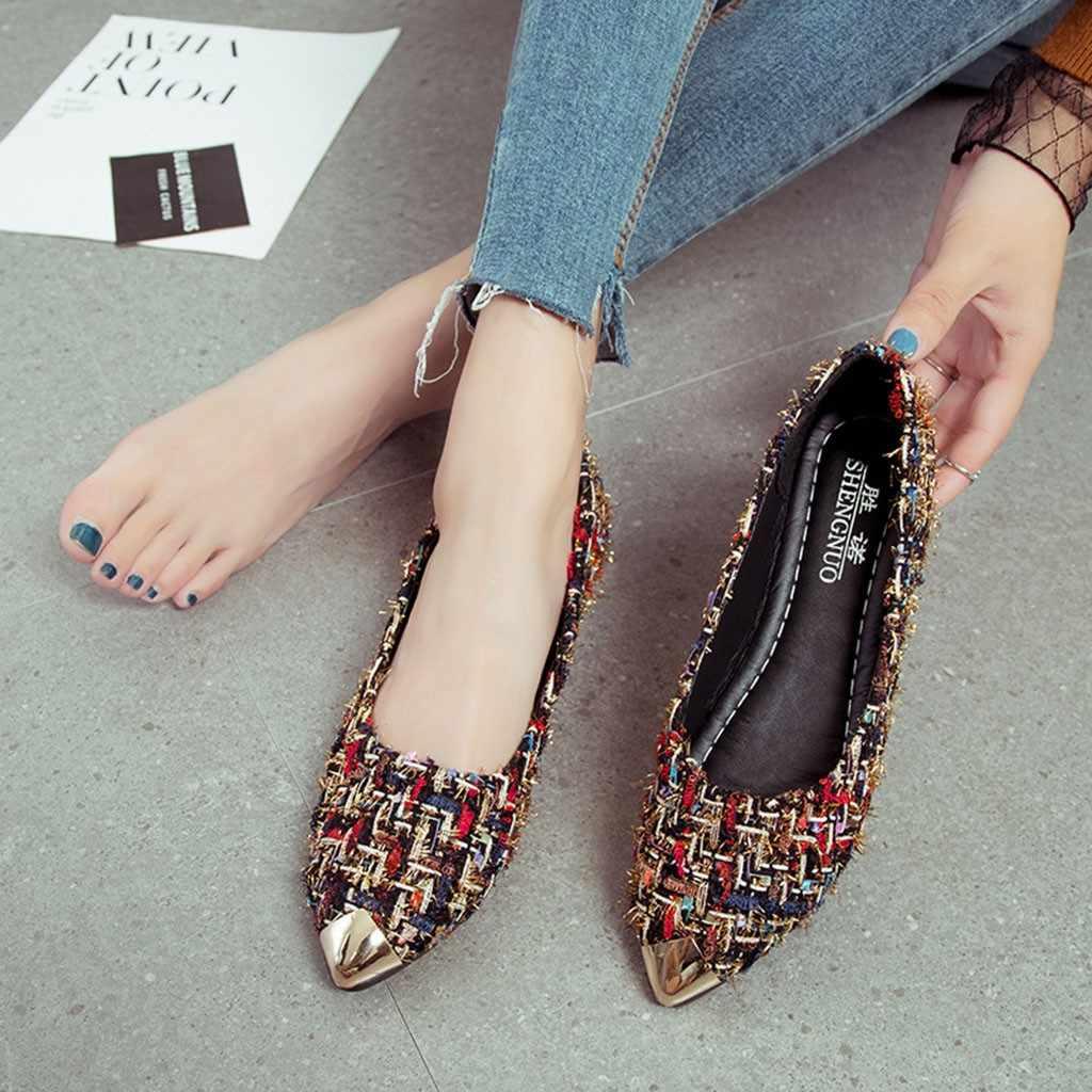女性の女性のサンダルの靴夏金属混合色浅いシングル靴快適なパーティービーチサンダル Zapatos Mujer