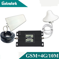 Lintratek LCD Display GSM Amplifier 900 4G 1800 65dB Gain Cellular Signal Repeater 900 1800 Dual