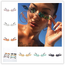 Fashion Fire Flame Sunglasses Eyewear Cloud Luxury Design Narrow Sunglass Shade Streetwear Women Men Rimless Wave Sun Glasses