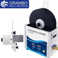 Limpiador ultrasónico de discos de vinilo para limpieza de álbumes, gramófono LP, fuente de alimentación, levantador, 6,5 L, 180W, 110V/220V