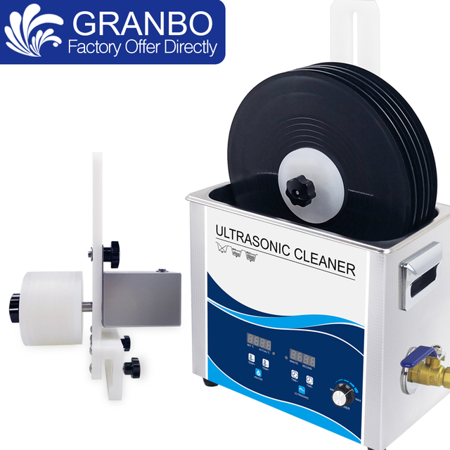 New Vinyl Record Washer 6.5L Bath 180W 110V/220V Ultrasonic Cleaner Gramophone LP Disc Album Cleaning With Power Supply Lifter