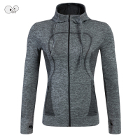 Girls Yoga Tops Sports Hoodies Quick Dry Long Sleeve Sweatshirt Women Running Sportswear Fitness GYM Zipper