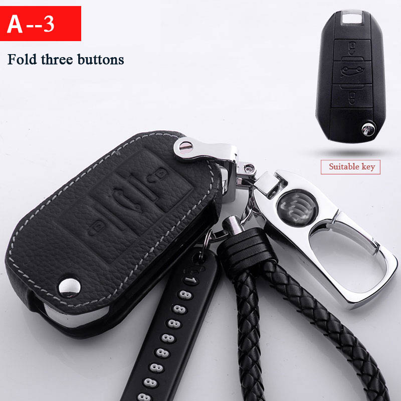 Car Key Rings protect for Peugeot 206 207 2008 301 307 308sw 3008 408 508 Protective shell Case