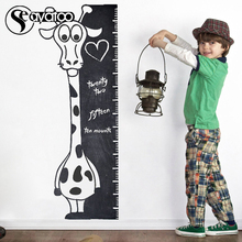 Kids Chalkboard Giraffe Height Growth Chart Measure Vinyl Wall Sticker Decal Nursery Baby Room Stickers 40x110cm