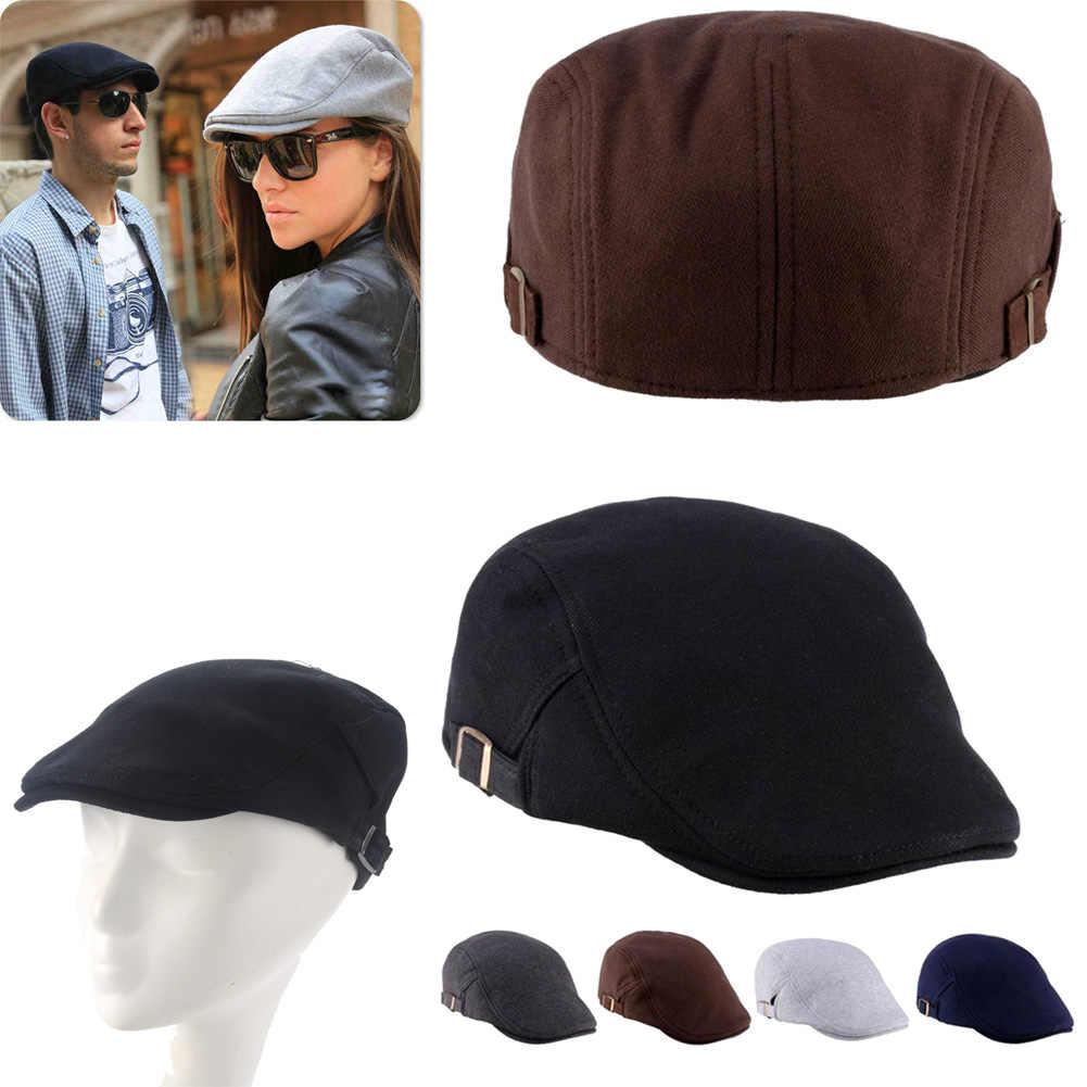Винтажная разноцветная Унисекс Мужская и Женская Берет шапочка шапка французский стиль Великобритания