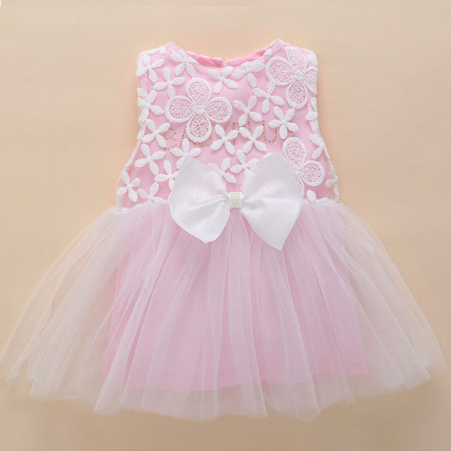 bf73cf7e9eeb kids dresses for girls 0-3 months newborn baby girl clothes summer pink  lace flower tutu princess baby dress birthday 1 year