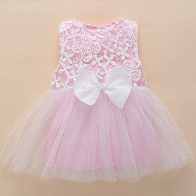 23805f024 Detail Feedback Questions about kids dresses for girls 0 3 months newborn  baby girl clothes summer pink lace flower tutu princess baby dress birthday  1 year ...