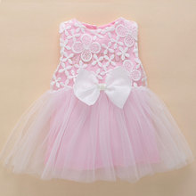 kids dresses for girls 0-3 months newborn baby girl clothes summer pink lace flower tutu princess baby dress birthday 1 year