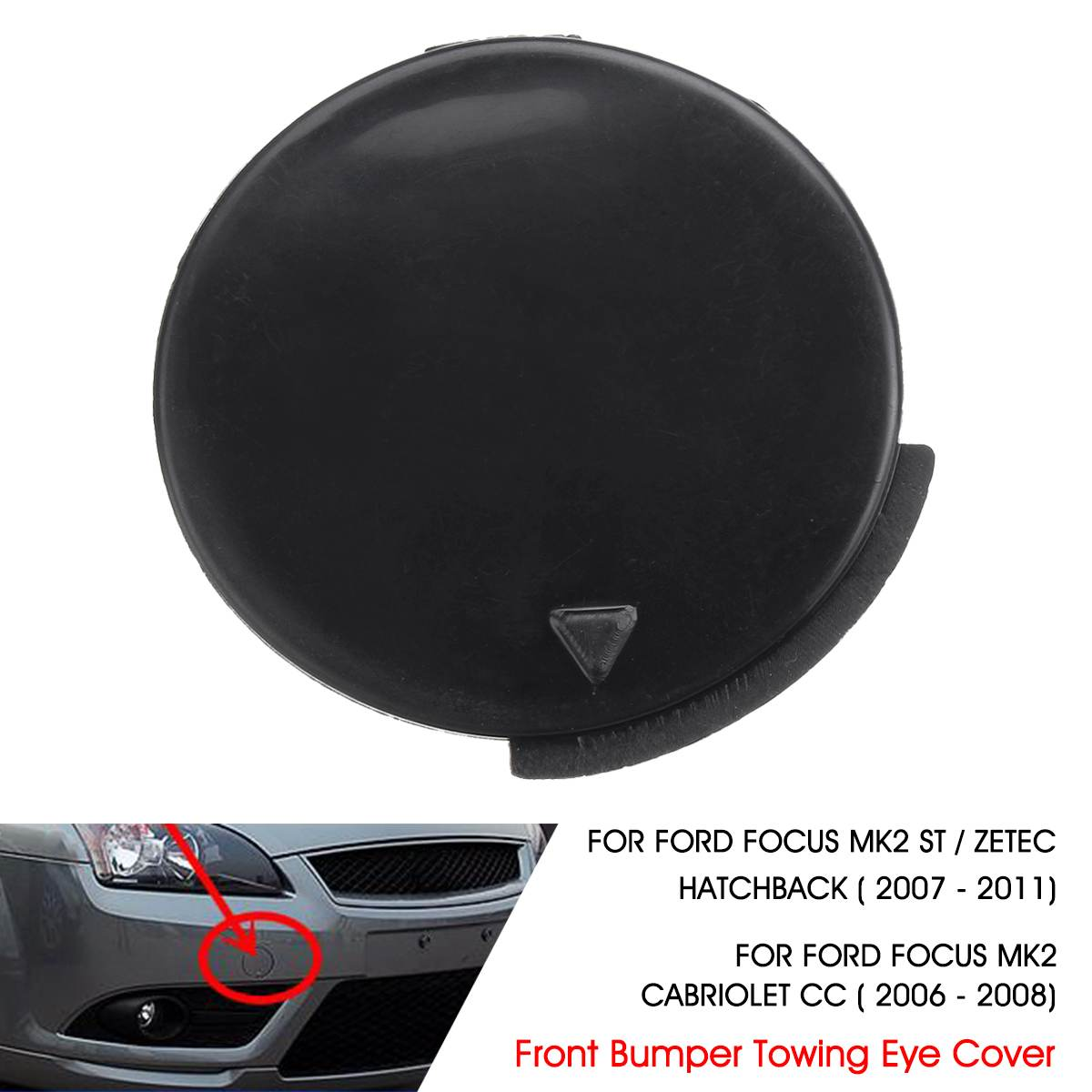51117345034 For BMW X1 E84 2013-2016 Primed Front Bumper Tow Eye Hook Cover Cap