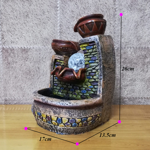 Image 3 - Kapalı Fengshui su çeşmesi hava nem meditasyon yardımcı olur rustik Vintage rustik ev dekorasyon peri bahçe minyatürleri