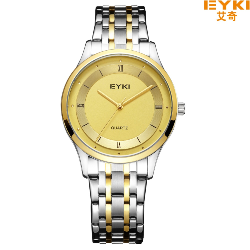 ФОТО Brand EYKI Loves Business Watch Thin Men's Quartz Dress Clock 3ATM Waterproof Fashion Business Watches Relogio 2032