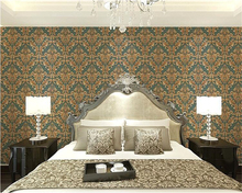 beibehang High fashion decorative painting 3d wallpaper European style deep embossed PVC waterproof living room special offer