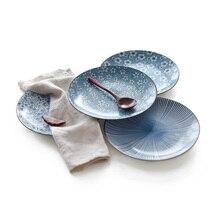 Японская керамическая посуда столовая Фарфоровая столовая посуда T кухонная тарелка посуда для белый ресторанный фарфор посуда и тарелки