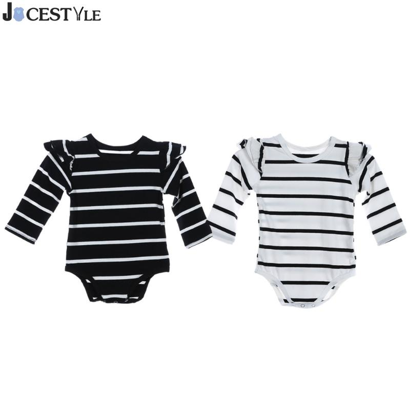 Infant Baby Long Sleeve Striped Rompers Spring Autumn Clothing Wear Newborn Kids Baby Girl Jumpsuit Ruffle Tutu Clothes Outfit baby clothing newborn baby rompers jumpsuits cotton infant long sleeve jumpsuit boys girls spring autumn wear romper clothes set