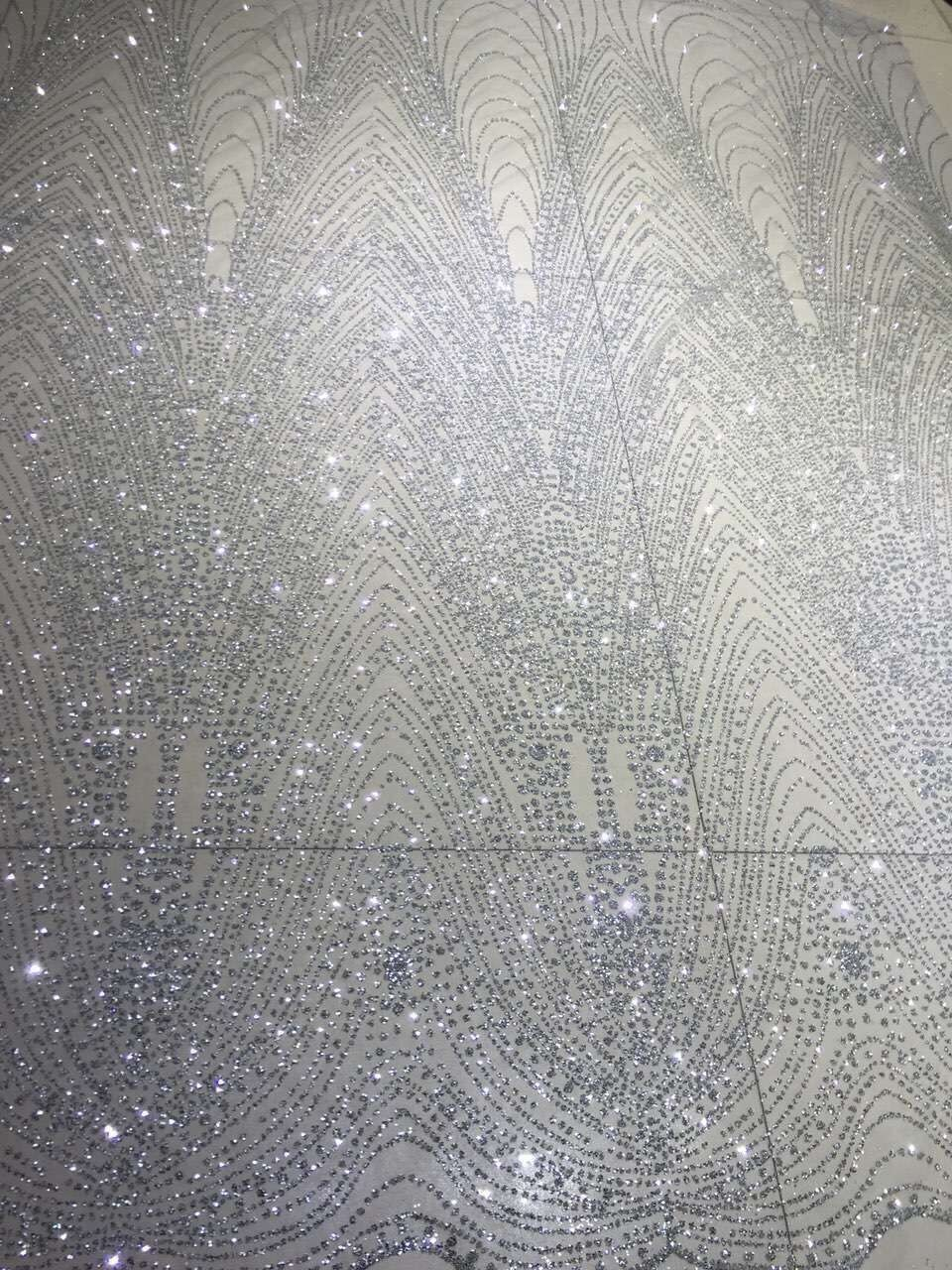 Silver embroidery glitter mesh tulle lace for evening dress L2391 1 fashion  design for wedding dress-in Lace from Home   Garden on Aliexpress.com  5b64eb398e20