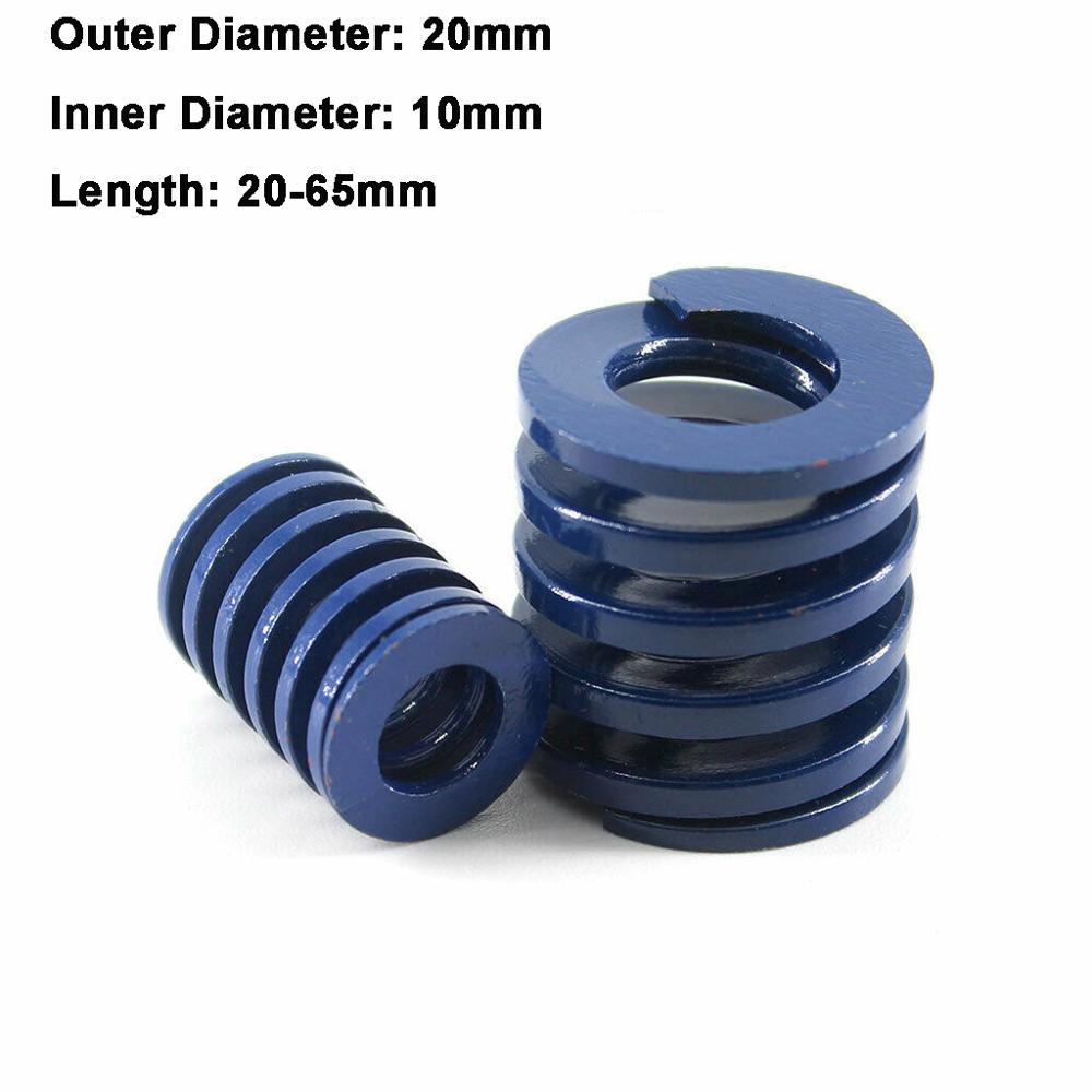 1Pcs Blue Light Load Spiral Stamping Compression Die Spring Outer Diameter 20mm Inner Diameter 10mm Length 20-65mm(China)