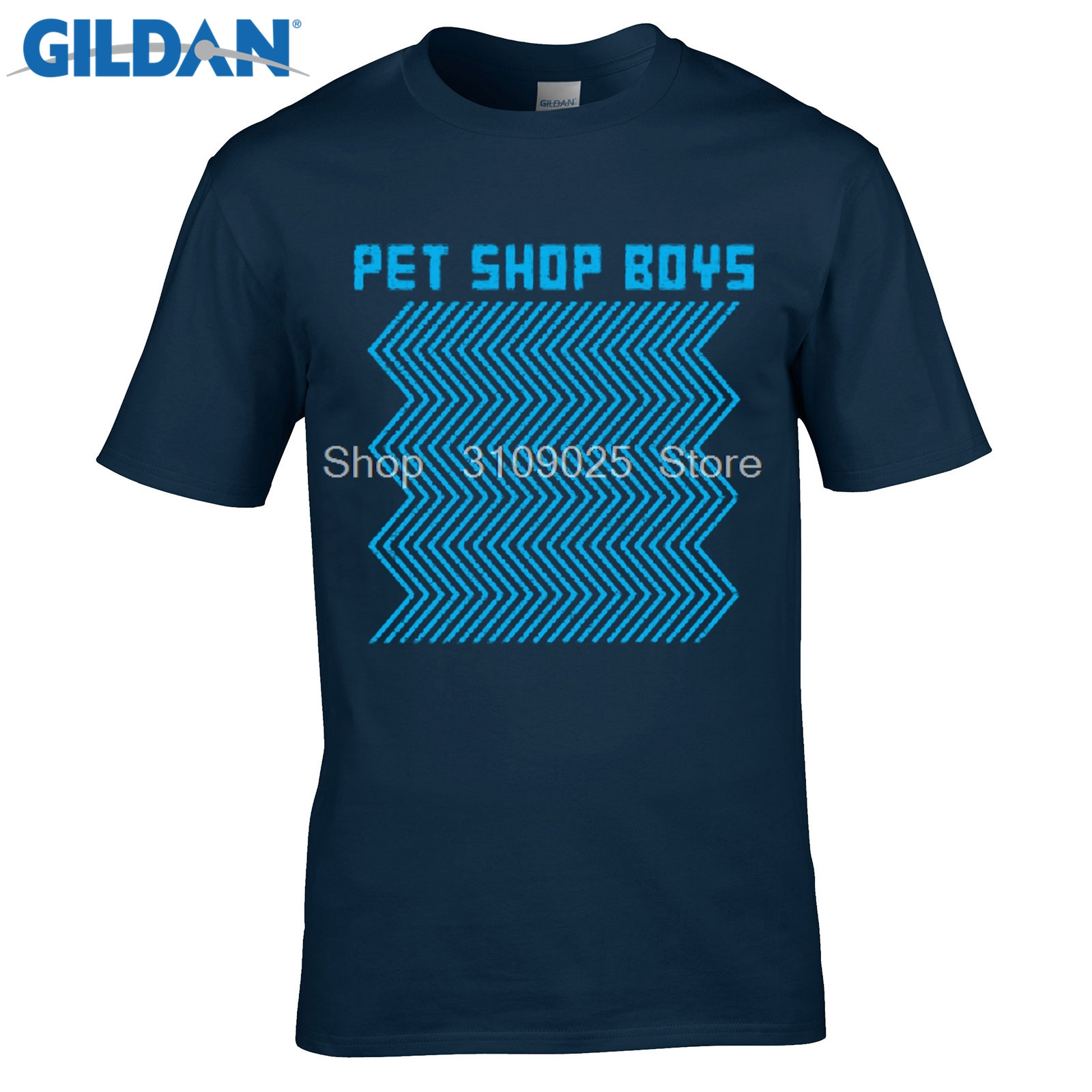 GILDAN men fashion brand t shirt 2017 MenS Short Sleeve Pet Shop Boys Electric Electronic Pop Duo Printed MenS T Shirt