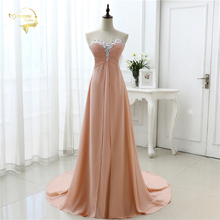 vestido de festa vestido longo 2017 Open Leg Lace up Sweetheart Neck Beading Crystal Formal Long Chiffon Evening Dresses OL4311