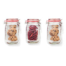 Kitchen Storage Bag Fresh Food Snack Clip Grip Coffee Clear Ziplock Reclosable Storage Zipper Bag Outdoor Travel Camping Supply(China)