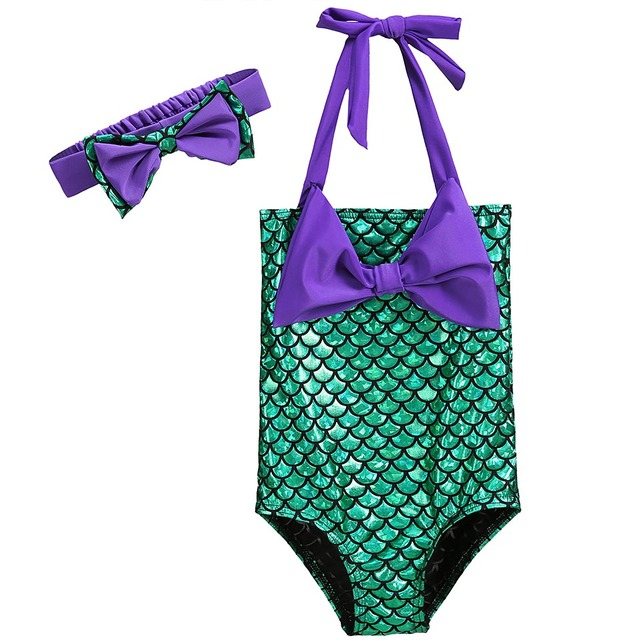5c22c9c38a9 US $11.21 49% OFF|Pettigirl Baby Girls Swimsuit Mermaid Sequins Beach Style  Swimwear With Headband 2PCS Kids Summer Bathing Suit SR90119 500F-in ...