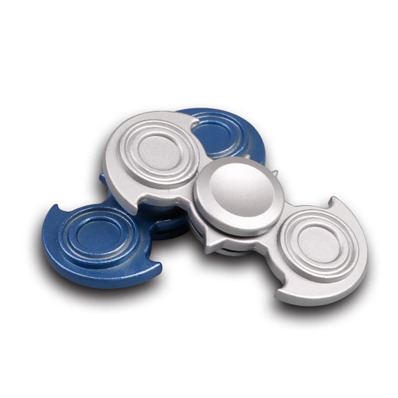 2 Colors Bat Metal Fidget Spinner UFO Two spinner EDC Hand Spinner Aluminum Alloy Fidget Toy